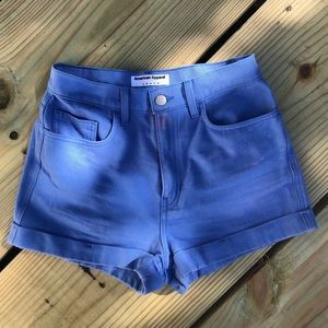 American Apparel jeans light blue shorts